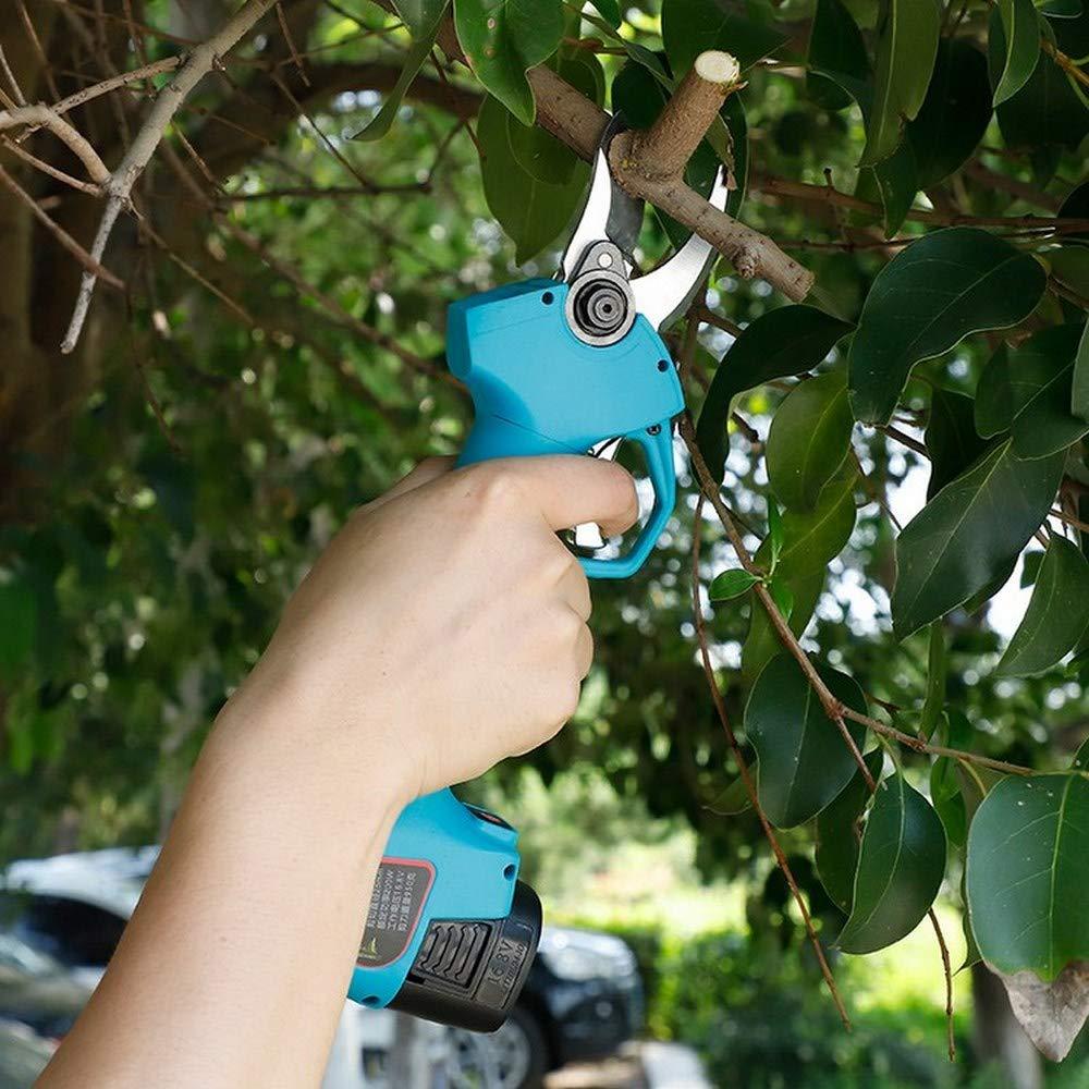 16,8 V flores sin cable herramienta de corte /árbol jard/ín recargables juego de tijeras de podar el/éctricas para casa Tijeras de podar el/éctricas juego de podadora el/éctrica azul