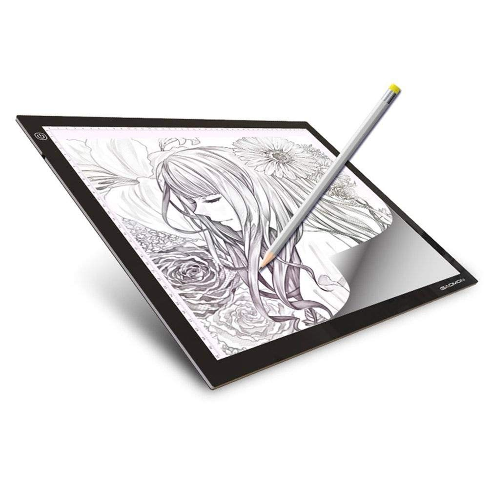 Amazon com bt a3 led light box 5mm portable led drawing board eyesight protection touch dimmable tracing table for sketch and copy jewelry