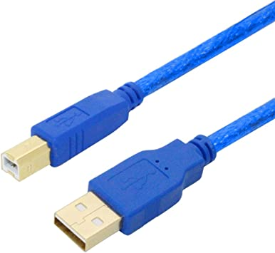 Cable de impresora 10 m, USB 2.0 tipo A a B Plomo, USB a Macho a B ...