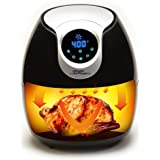 Power Air Fryer XL – 5.3 QT, Black Electric Programmable AirFryer. For Healthy Fried Food With Less or No Oil, 7 One Touch Presets For Your Favorite Recipe – As Seen On TV