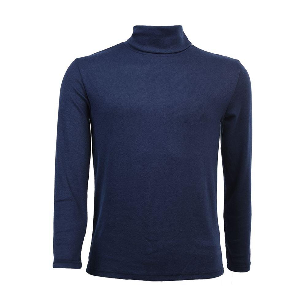 SODIAL(R) Moda para Hombre otono invierno de cuello alto sueter camisa patron puro Jersey Azul - L 033253F2