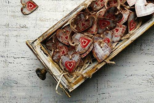 Ornament Wedding Favor (Set of 50 Wedding favors wooden heart ornaments guest favors bridal shower baby shower 030118-4)