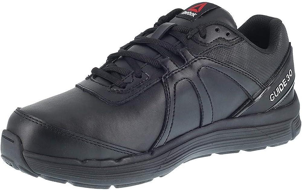 Reebok Work Men's Black Leather Work Shoes Metguard St Sr