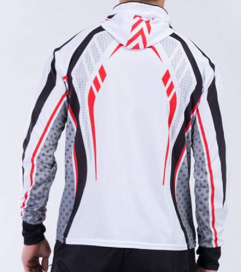 Yusky Mens Athletic Water-Resistant Slim Casual Zip Up Ski Jacket