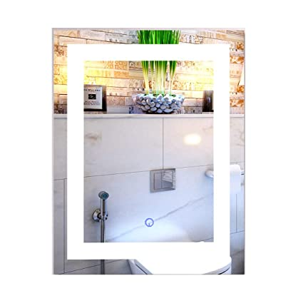 Amazon Com Co Z Dimmable Led Lighted Rectangle Bathroom Mirror