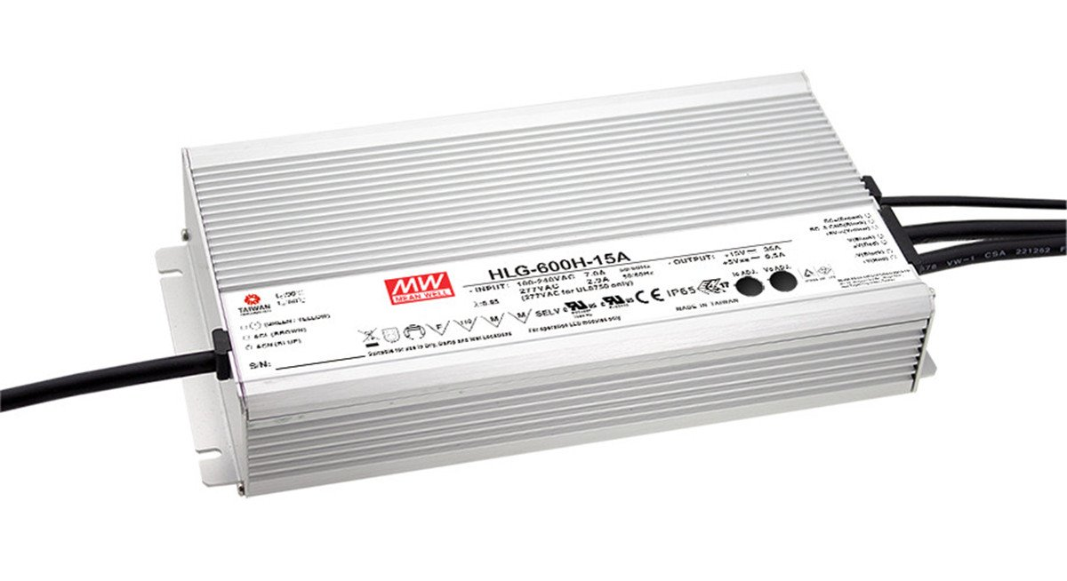 [PowerNex] Mean Well HLG-600H-24B 24V 25A 600W Single Output Switching LED Power Supply with PFC