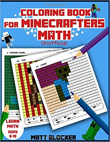 Amazon.com: Coloring Book For Minecrafters: Math Coloring Book ...