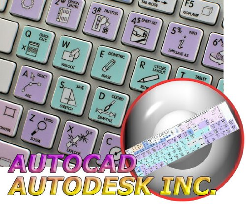 Autodesk AutoCAD keyboard sticker