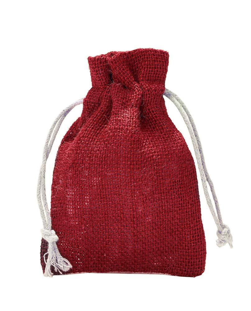 10 Jutesäckchen mit Baumwollkordel, Größe: 30x20 cm, 100% Jute, Winter-Topfschutz, Jute-Winterdekoration, Jute-Geschenkverpackung (natur) organzabeutel24