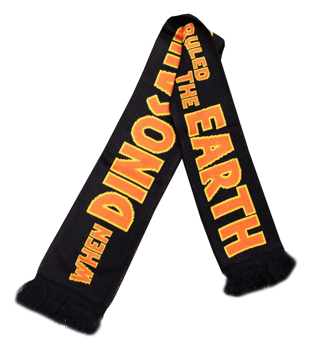 """Jurassic Park 5' Knitted Scarf  """"When Dinosaurs Ruled The Earth""""   Movie Memorabilia And Merchandise   Large Premium Quality Unisex Scarves   Geeky Gifts Perfect For Birthdays, Costumes, Holidays"""