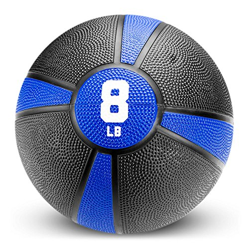 Crown Sporting Goods Tuff Grip Rubber Medicine Ball (8 LB)