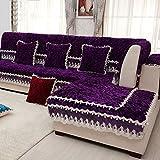 China Palaeowind European, Sofa Cushion, Fabric, High-end, Luxury, Plush, Lace, Leather, Solid Wood, Cushion,Purple-110210