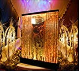 6.5' x 6.5' LED Full Color Bubble Wall Water Fountain Panel Restaurant