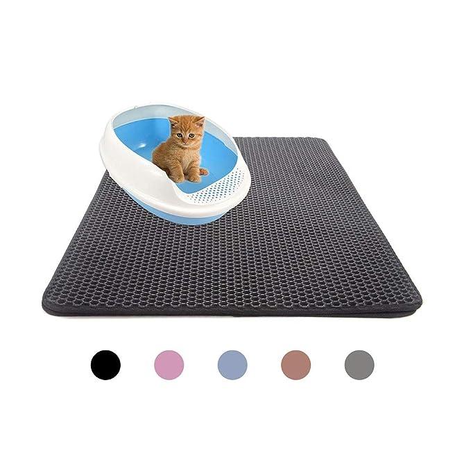 Amazon.com: Alfombrillas para gatos, arena plegable de doble ...