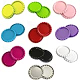 "1"" Craft Bottle Caps For Hair Bows, Pendants or Scrapbooks (50pc (10x5pc) 2 Sides Flat Bottle Caps--Combo), Color May Vary"