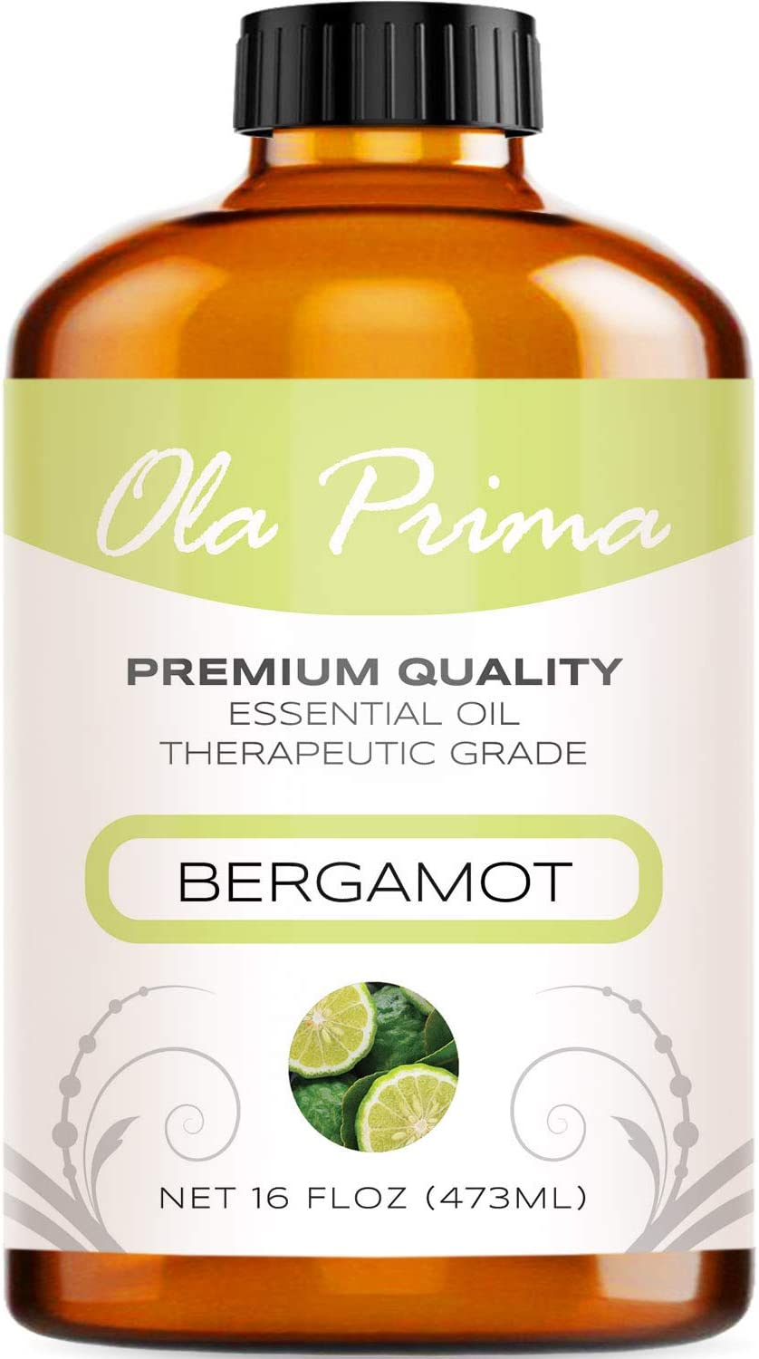 Ola Prima 16oz - Premium Quality Bergamot Essential Oil (16 Ounce Bottle) Therapeutic Grade Bergamot Oil