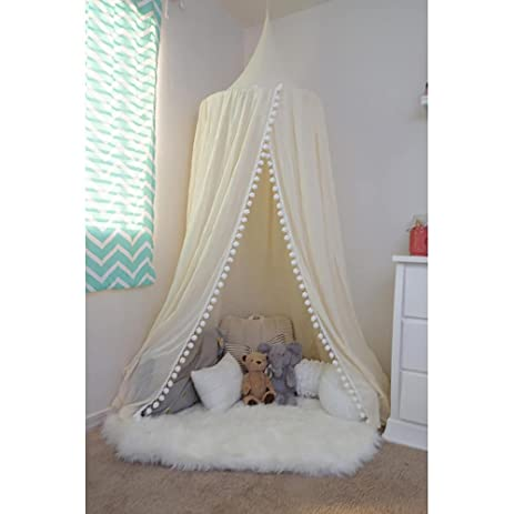 Pompom Play canopy in ivory cotton / hanging tent/ hanging canopy  sc 1 st  Amazon.com & Amazon.com: Pompom Play canopy in ivory cotton / hanging tent ...
