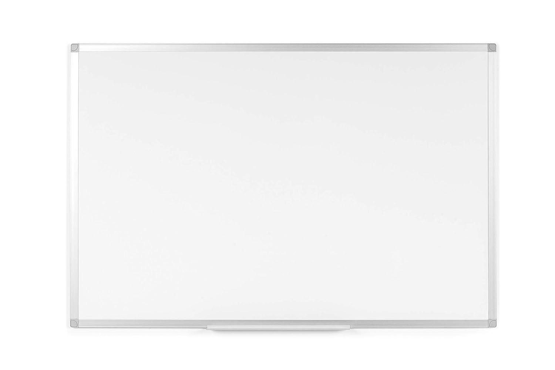 Lavagna Magnetica Bianca BoardsPlus Lavagna Cancellabile A Secco Con Cornice Sottile In Alluminio Anodizzato 120 x 90 cm Superficie In Acciaio Smaltato