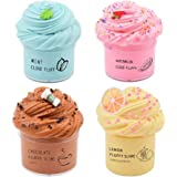 Cutiecute 4 Pack Butter Slime Kit, with Lemon Slime, Coffee Slime, Mint Slime and Watermelon Slime, Super Soft & Non…