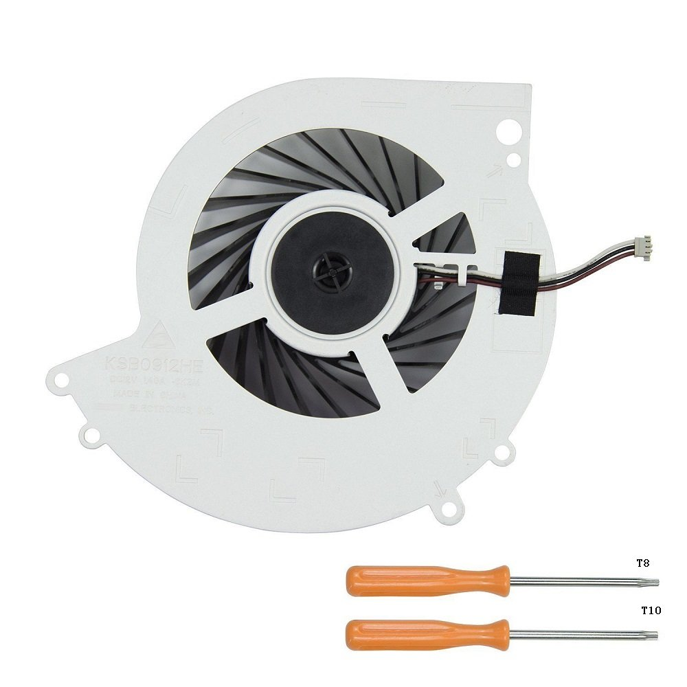 Rinbers Internal CPU GPU Cooling Cooler Fan Replacement Part for SONY Playstation 4 PS4 CUH-1000A CUH-1001A CUH-10XXA CUH-1100A CUH-1115A CUH-11xxA Series Console 500GB KSB0912HE with Tool Kit Rinbers Tech