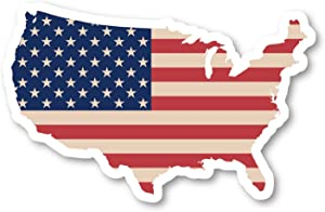 """USA United States Map Flag Sticker Flags Stickers - Laptop Stickers - 4"""" Vinyl Decal - Laptop, Phone, Tablet Vinyl Decal Sticker S140781"""