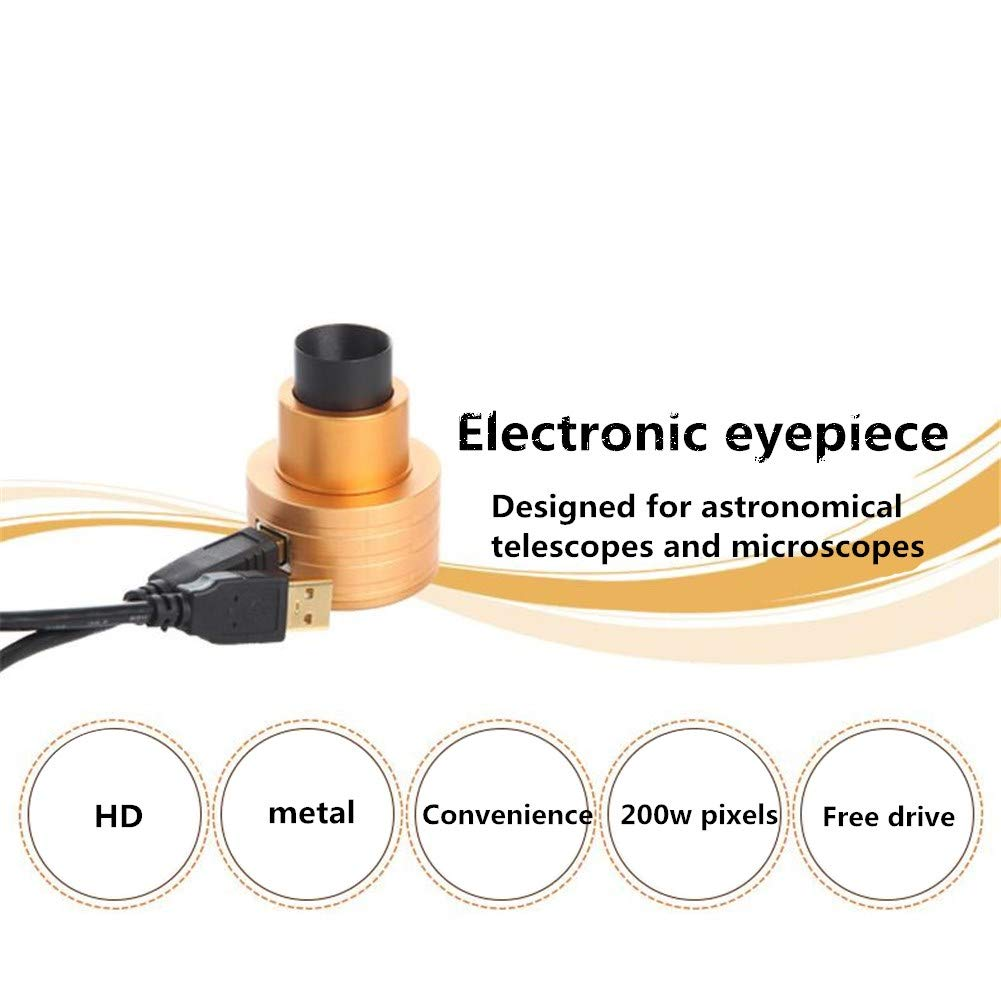 XUBA Astronomical Telescope/Microscope Electronic Eyepiece for Outdoor Sport 0.96 Inch 2 Megapixels Luxury Gold Color by XUBA (Image #8)