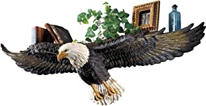 Collections Etc 3D Eagle Sculpted Wall Shelf Multi