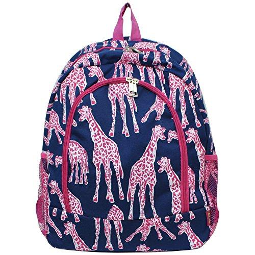 Children's School Backpack 2 (Giraffe Hot Pink)