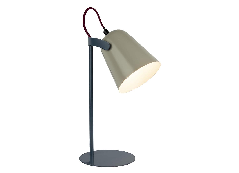 FISURA LT0796 Tischleuchte LED Chloe grau und blau mehrfarbig 37 cm Schreibtisch Stil Retro Farben matt Design Schreibtisch