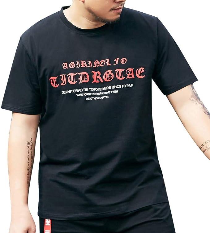 XL-6XLHombre Camiseta de Manga Corta con Cuello Redondo y Manga Corta para Hombre: Amazon.es: Ropa y accesorios