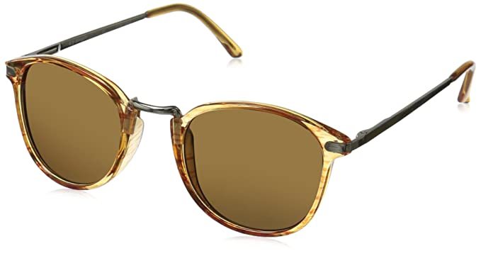 92ce64bac9 Amazon.com  A.J. Morgan Castro Round Sunglasses Amber 49 mm  Clothing