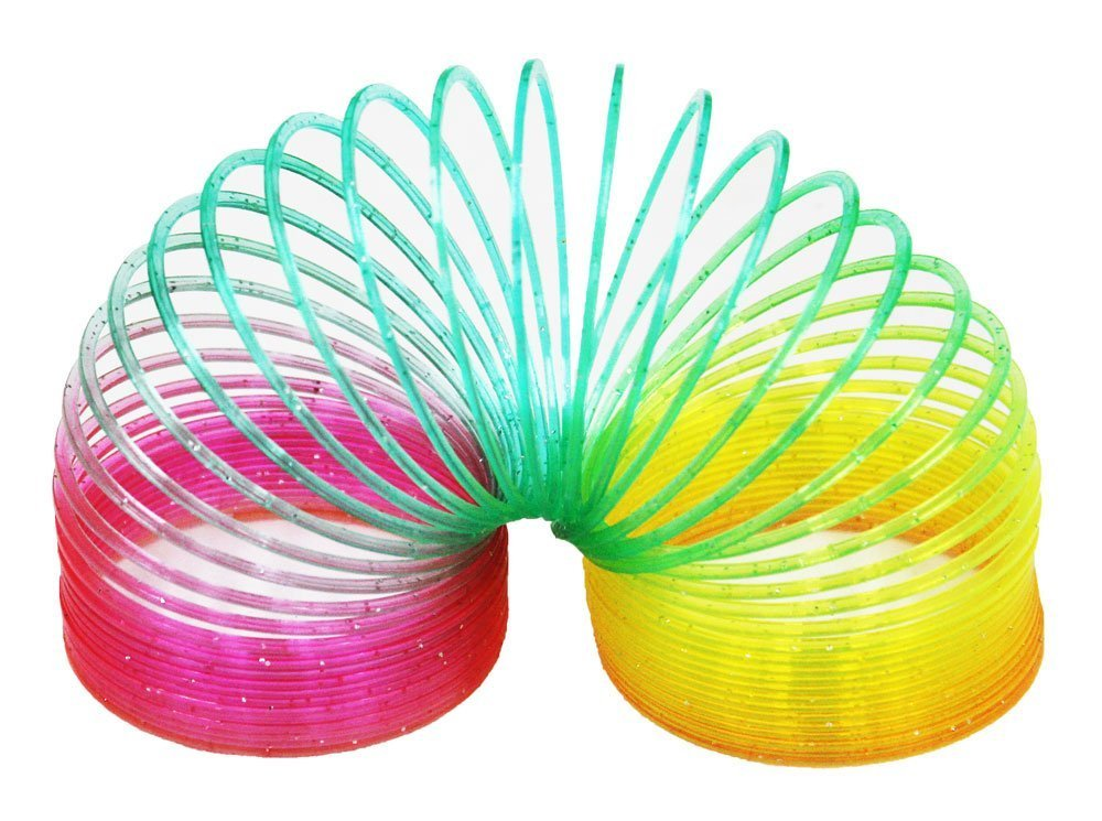 Magic Spring - 4 inch, Plastic, Rainbow Fun Express