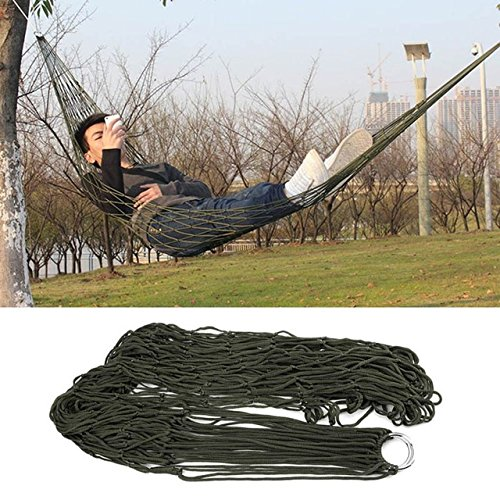 Gencorp JSC Camping hammock - Portable Nylon Hanging Mesh Sleeping Bed Swing Outdoor Travel Camping - Australia Stores Colorado