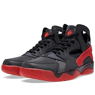 c653287d4cd11 Nike Air Flight Huarache PRM QS Men s Shoes Black Anthracite-Challenge Red  686203-