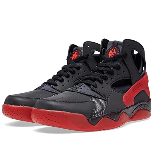 Nike Air Flight Huarache PRM QS Men's Shoes Black/Anthracite-Challenge Red 686203-