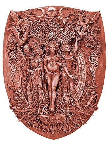 Maiden, Mother , Crone Triple Goddess Plaque by Maxine Miller - Wood (Cernunnos Plaque)