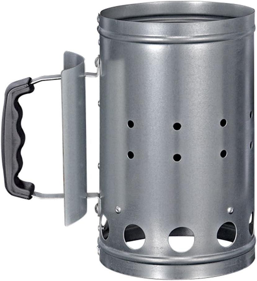 HI 60061 - Encendedor de carbón para barbacoa, metal, color plateado, 1 unidad