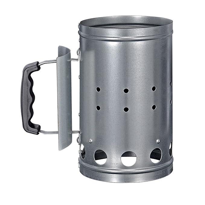 Encendedor de carbón, de zinc, XXL, encendedor rápido, para parrilla