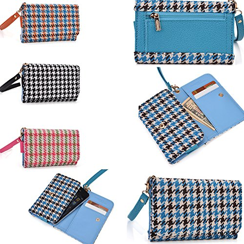 2 in 1 cellphone holder plus wallet- Universal fit- in a woven styled design - Compatible fit for the following models:: Net 10 Motorola EX431G