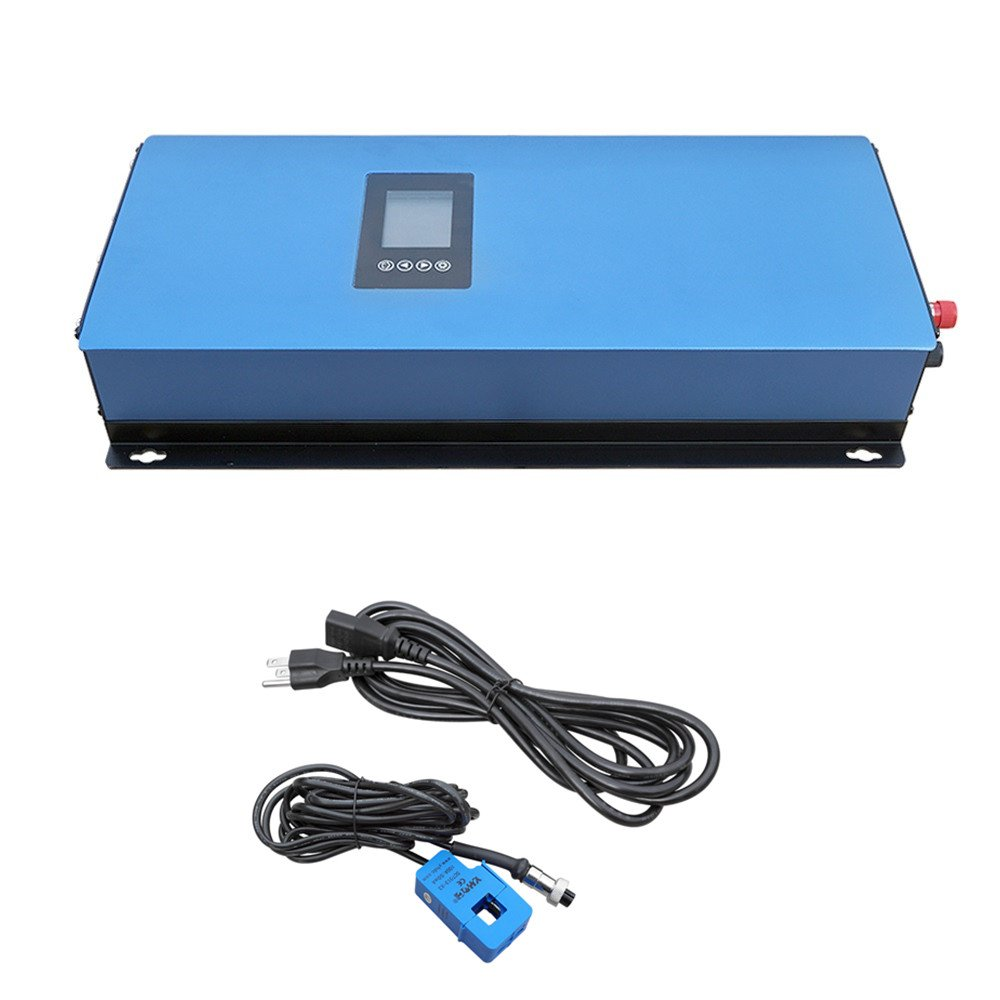 ECO-WORTHY 2KW LCD Display MPPT Solar Grid Tie Inverter Pure Sine Wave DC Input Range 45-90V