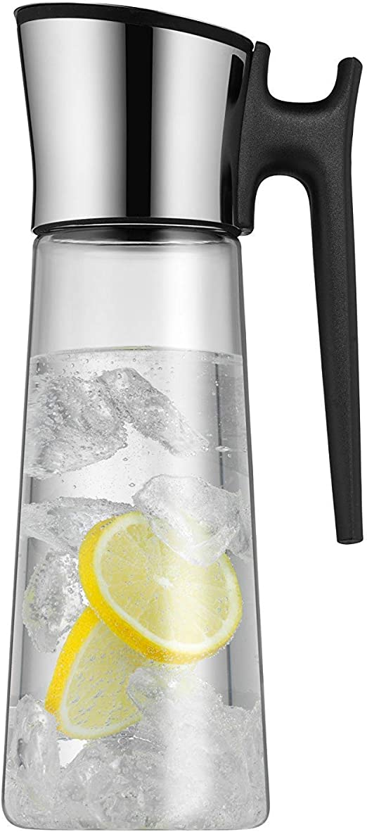 WMF Basic Water Decanter 1L Height 29 cm Close-Up Stopper Glass Cromargan/® Stainless Steel,Silver
