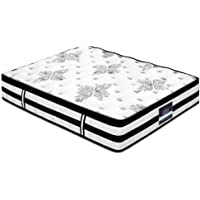 King Mattress, Giselle Bedding 34cm Thick Euro Top Pocket Spring Foam 5 Zone Bed Mattress