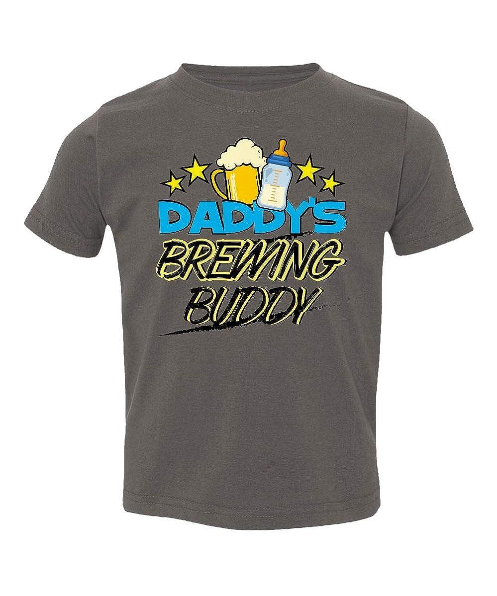 Societee Daddys Brewing Buddy Drink Together Beer Milk Little Kids Girls Boys Toddler T-Shirt
