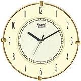 Ajanta Quartz Plastic Wall Clock (25.7CM X 25.7CM),Ivory