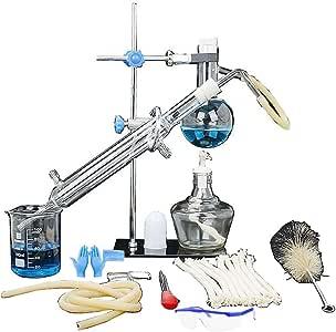 YIGEYI Juego de unidades de destilación Cristalería de laboratorio ...