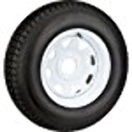 Amazon Com 15 White Spoke Trailer Wheel With Bias St205 75d15 Tire