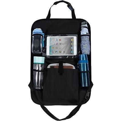 Organizador De Asiento Trasero Coche Multi Bolsillo de almacenamiento Tablet iPad Soporte de cabeza de pasajeros
