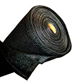 ALEKO 6 x 150 Feet Black Fence Privacy Screen Windscreen Shade Cover Mesh Fabric Roll with Lock Holes