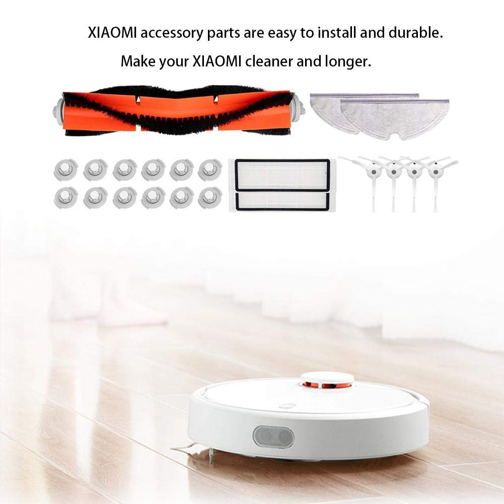 1xM023 Cepillo Principal 2xM012 Segunda Generaci 4xM004 Cepillo Lateral Accesorios De Aspiradora Para Xiaomi MI Mijia Robot Roborock Vacuum Cleaner 2xM001 Filtro Incluye 12xM022 Water Core