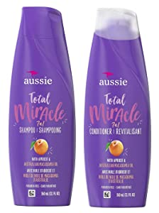 Aussie Total Miracle Collection 7n1 Shampoo and Conditioner Set, 12.1 Fluid Ounce Each